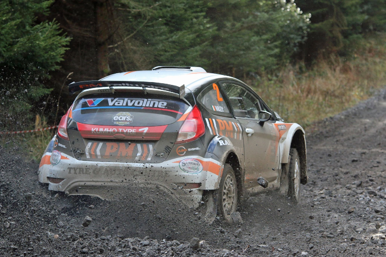 Andrew Purcell & Mark Wiley charge their new R5 Fiesta to its maiden victory in Carrick on Suir!