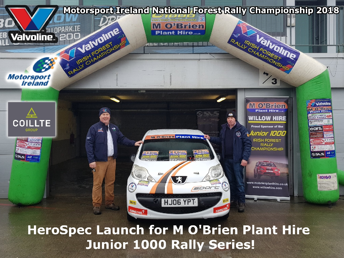 HeroSpec Launch for M O'Brien Plant Hire Junior 1000 Rally Series! 2018 Valvoline Motorsport Ireland National Forest Rally Championship