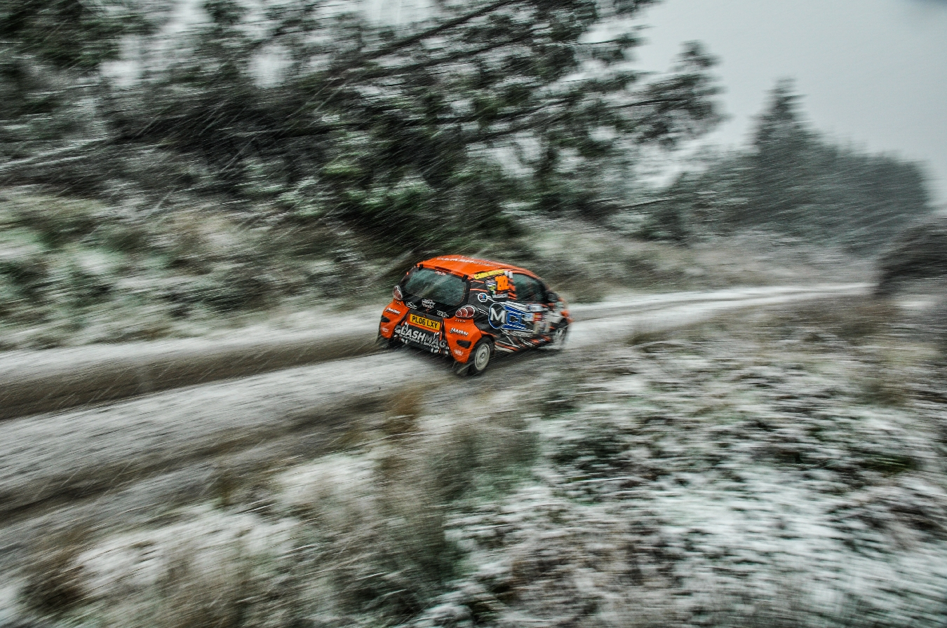 Kyle McBride Junior1000 Competitor at the 2019 Limerick Forest / Snow Rally